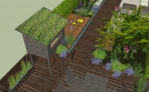 waterloop speelhuisje waterplantenbak