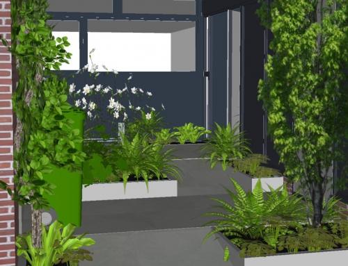 Van sombere voortuin naar groene patio