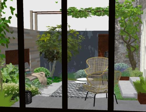 Groene patio bij monumentale woning hartje Delft